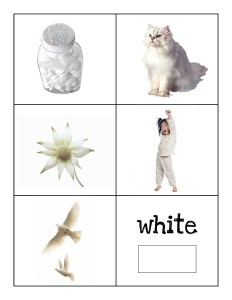 color cards white