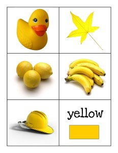 color cards yellow