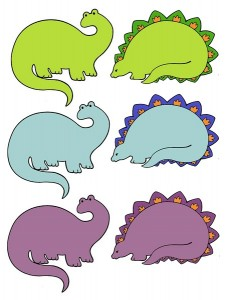 color matching activities dinosaur