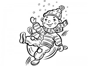 coloring pages winter  activitiy