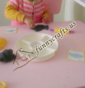 create x trays with play dough (2)