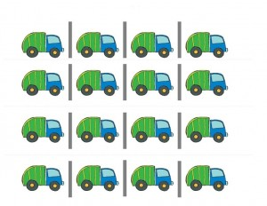cutting garbage truck worksheets