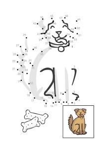 dog dot to dot activities