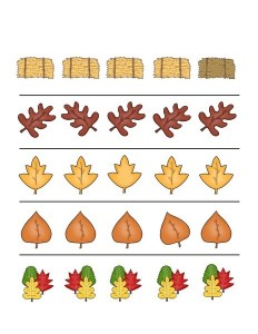 fall-autumn worksheets difference