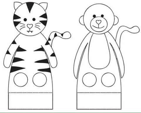 Finger Puppets Printables » finger puppet worksheets kındergarten