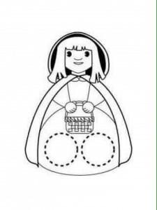 finger puppet worksheets red little riding girl