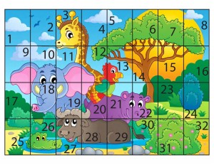 forest animal puzzle 1-32