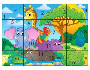 forest animal puzzle