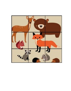 forest animals 9 piece puzzle