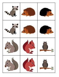 forest animals cards