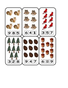 forest animals math (2)
