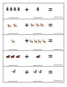 forest animals math