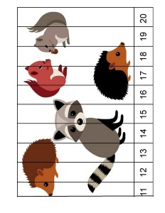 forest animals number puzzle