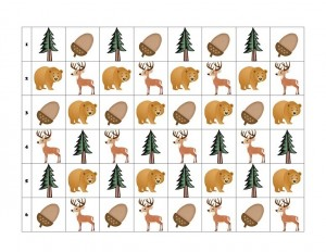 forest animals pattern template