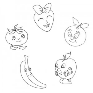 fruit coloring pages for kıds (1)