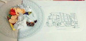garbage truck crafts for kıds coloring pages