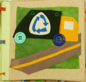 garbage truck crafts for kıds felt book