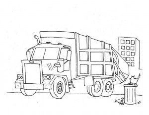 garbage truck worksheets coloring pages (5)