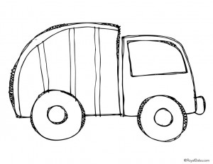 garbage truck worksheets coloring pages (6)