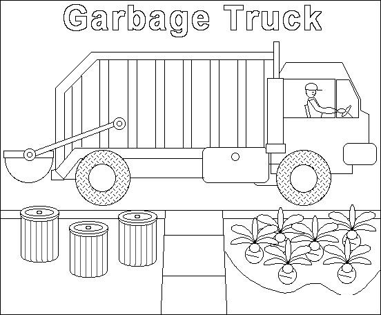 mail truck coloring page - garbage truck worksheets coloring pages 9 funnycrafts