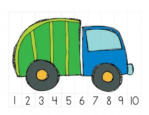 garbage truck worksheets sequence puzzle