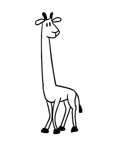 giraffe coloring page worksheets