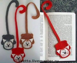 hand knitted bookmark crafts (12)
