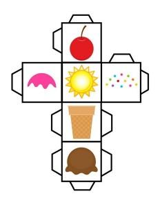 ice cream dice worksheets