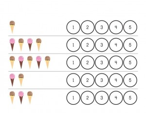 ice cream printables counting