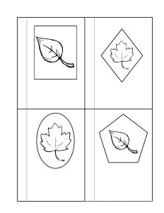 leaf themed shapes activity