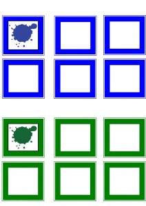 learning color activities  blue and  green