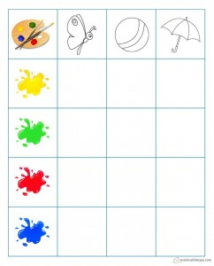 learning color activities grapy