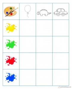 learning color grapy activities