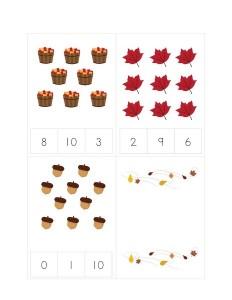 learning math autumn theme activities