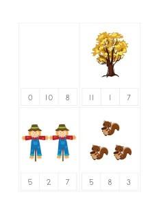 math autumn theme activities