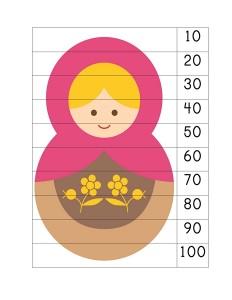 matryoshka number puzzle activity