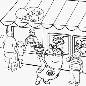 minions coloring pages activities