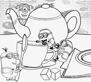 minions coloring pages activity