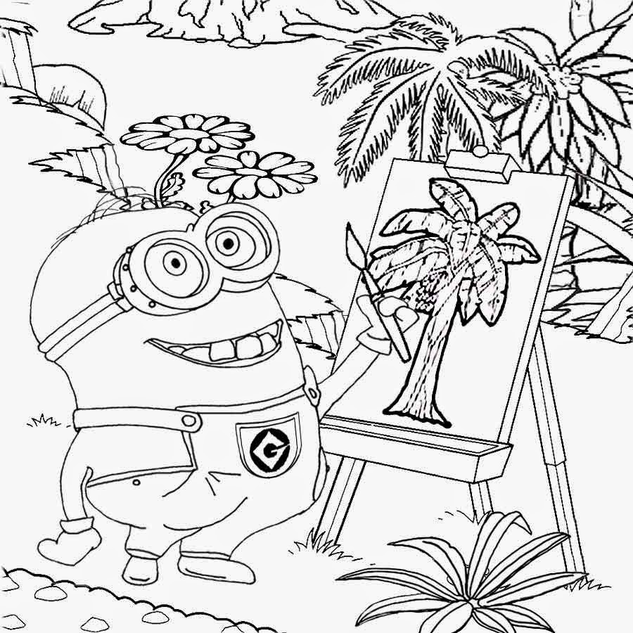 Minion coloring pages free printable - Drawing Minion Coloring Pages Minions Cool Activities For K Ds Minions Coloring Pages For K