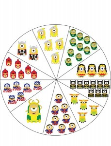 minions number wheel