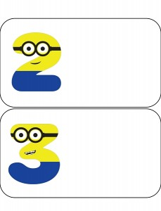 minions numbers