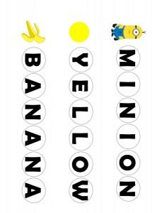 minions word activities