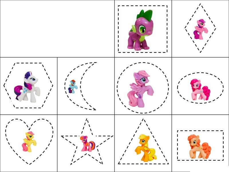 My Little Pony Activities » my little pony shapes