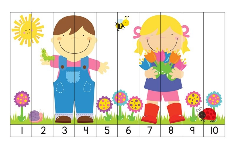Printable Counting Activity for Preschoolers » number 1-10 sequence ...