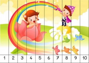 number 1-10 sequence puzzles (2)