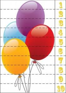 number puzzle ballon