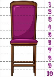 number puzzle chair