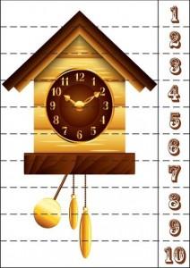 number puzzle clock