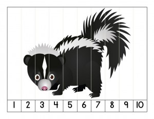 number puzzle forest animals