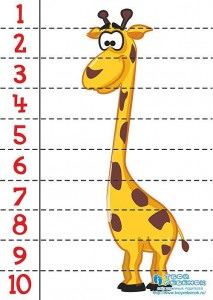 number puzzle giraffe